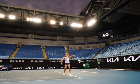Barty gains focus in empty arena to reach Australian Open fourth round