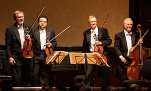 Forty years young … the Endellion Quartet perform at the Wigmore Hall in London.