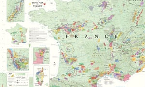 France Wine map