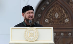 The Kremlin-backed head of the Chechen Republic, Ramzan Kadyrov.