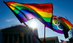 Gay pride flags at supreme court