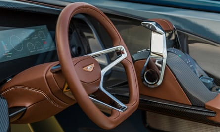 The cockpit features leather interiors and a joystick.