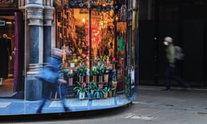 Shuttered shops along Bourke Street mall in Melbourne on Tuesday