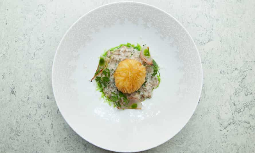 Claude's mushroom risotto with Daniel's crispy egg and aged parmesan.