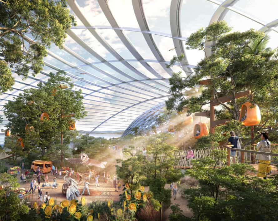 Artist's impression of the Eden Project North interior