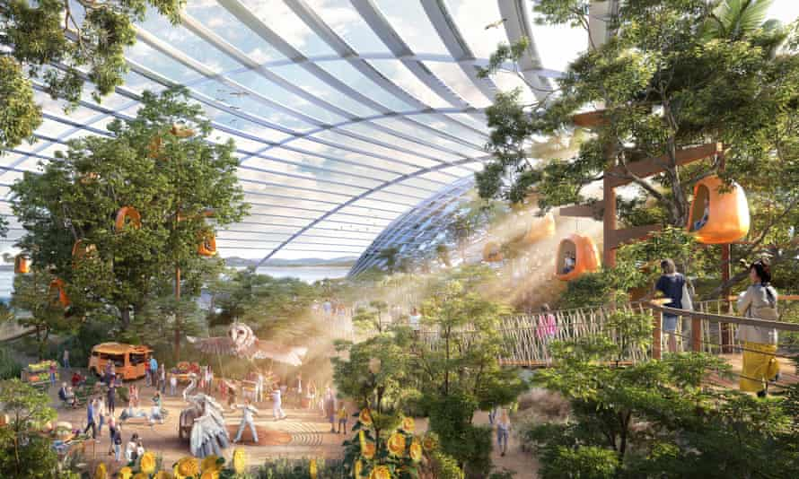 Artistic impression of the planned Eden Project North, which will cost £125m in total to build.