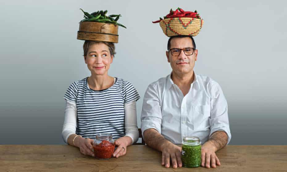 """The food I go back to"": Sami Tamimi (right) and Tara Wigley, authors of new cookbook Falastin."