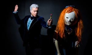 Andy Meekings dressed as Jon Pertwee's Doctor Who with Lorna Tang dressed as a Peg Doll, a creation from the Night Terrors episode in 2011