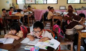 'My entire school experience was no fun' ... a student in Cempaka Putih, Jakarta.