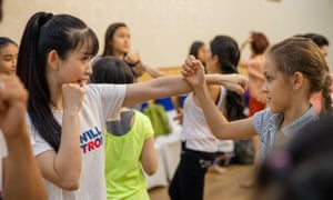 Self-defence classes organised by She Will Be Strong social enterprise in partnership with the Ho Chi Minh City Taekwondo Federation