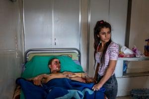 World Press photo of the year nominee | Injured Kurdish Fighter Receives Hospital Visit | Ivor Prickett, Ireland