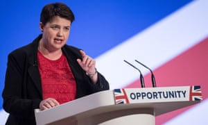 Ruth Davidson at the Conservative party conference in October 2018.