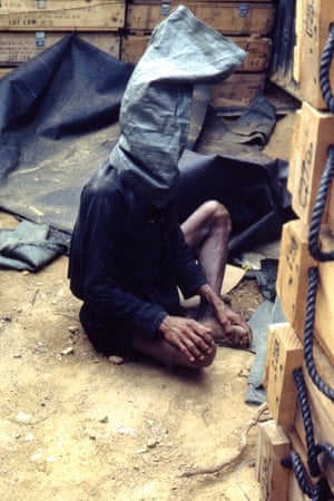 Jay Arthurs - A Viet Cong Prisoner being held for interrogation at LZ Stinson, Quang Ngai Province. Served 1969-70