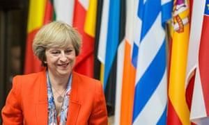 Theresa May at the European summit in Brussels last week
