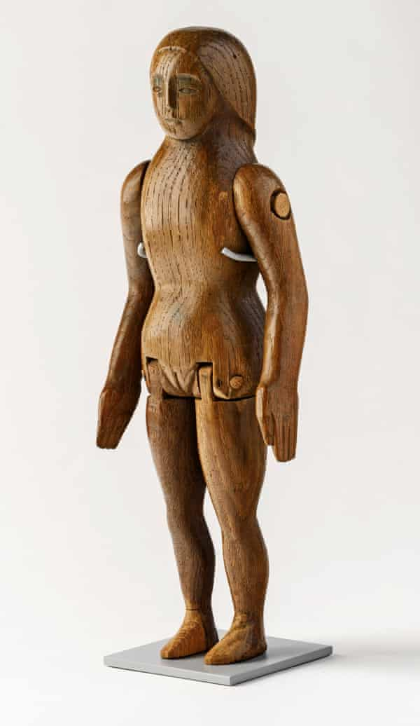 Wooden doll, carved by Eric Gill for his daughter Petra, 1910.