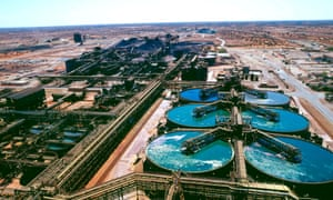 BHP's Olympic Dam copper-gold-uranium mine near Roxby Downs in South Australia. The company is dropping the name Billiton from its name.