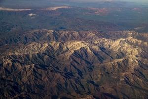 An aerial view the Eastern Anatolia region in Turkey