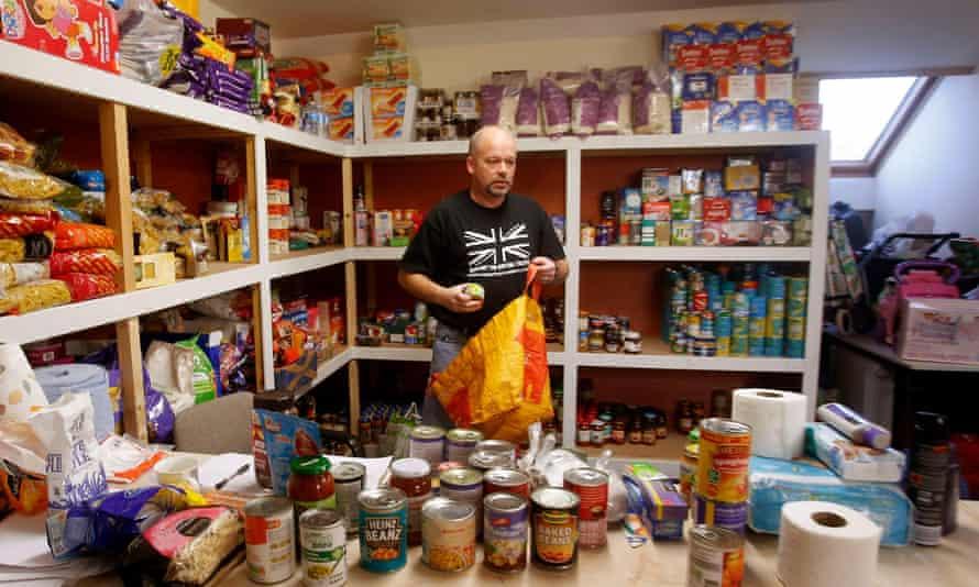 Drumchapel food bank near Glasgow