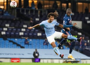 Ake in action against Pepe