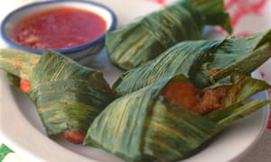 Chicken in pandan leaves – which I'm sure you already knew.