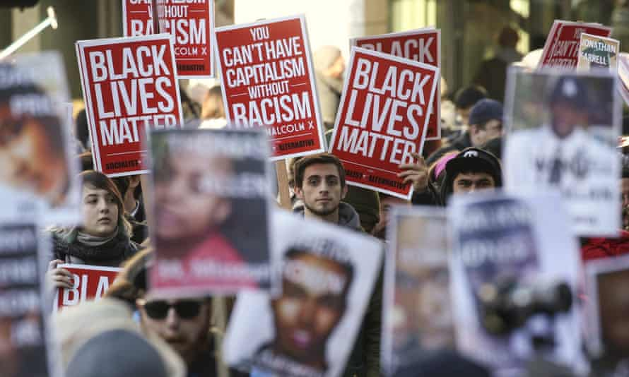 Black Lives Matter protesters gather in Seattle.