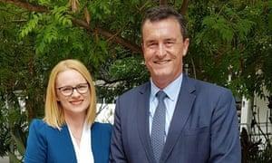 Amanda Stoker with LNP president Gary Spence.