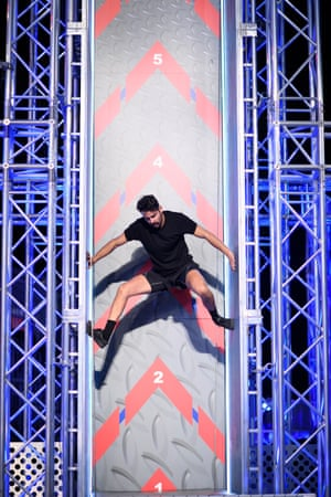 Alex Matthews in the first semi-final of Australian Ninja Warrior.