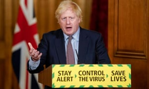 Boris Johnson during the daily press briefing