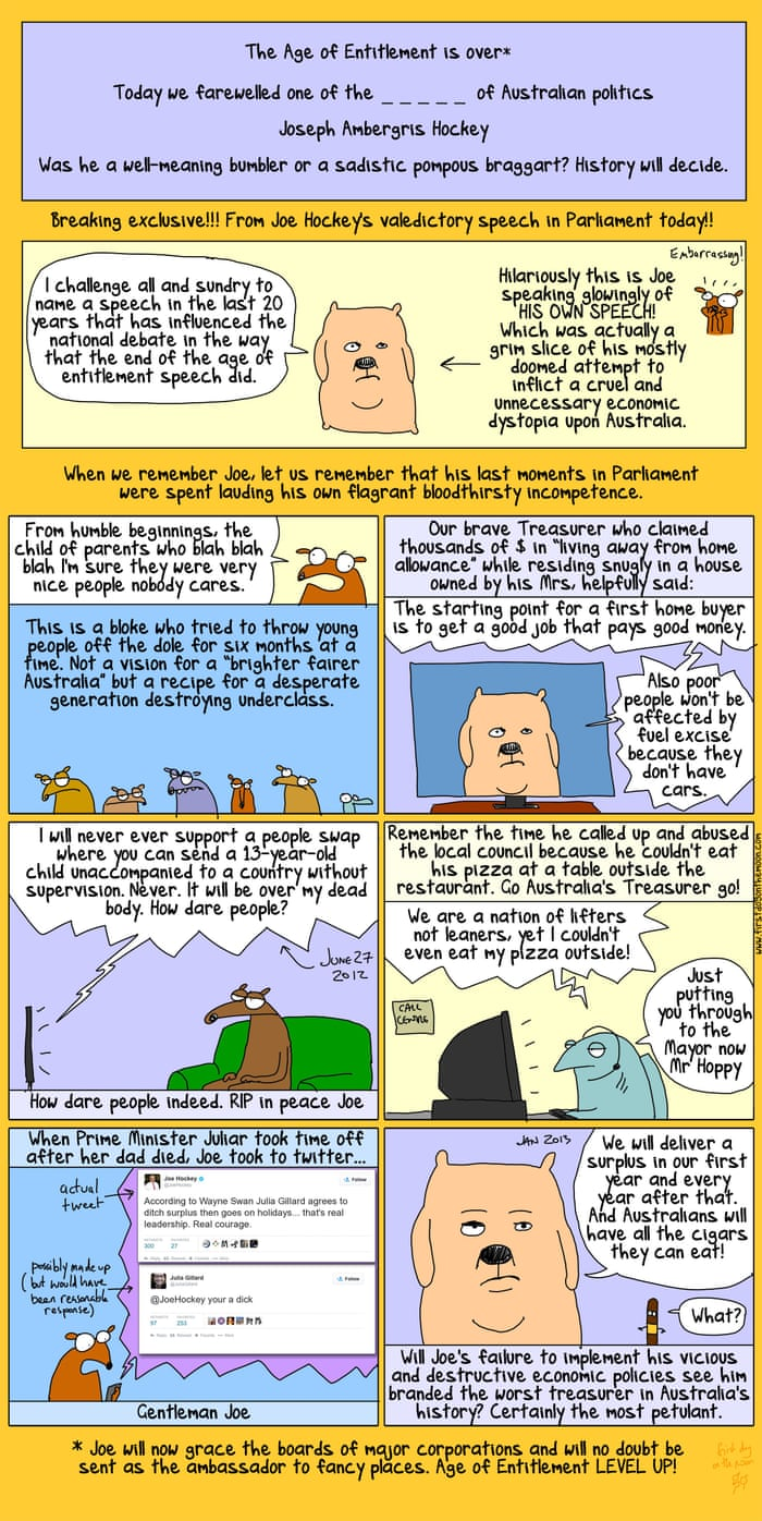 was joe hockey a well meaning bumbler or a sadistic pompous was joe hockey a well meaning bumbler or a sadistic pompous braggart first dog on the moon global the guardian