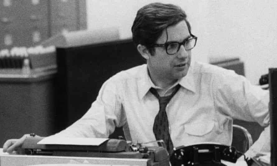 Reporter Neil Sheehan, who broke the Pentagon Papers story, at the New York Times in 1971.