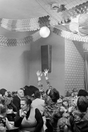 Abertillery. Childrens Christmas party. 1974