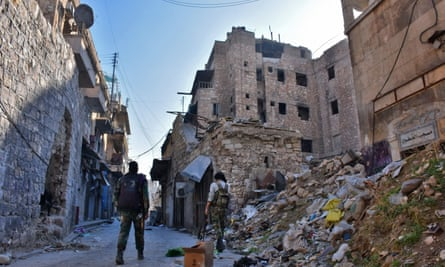 Syrian pro-government forces in Aleppo's Jdeideh neighbourhood