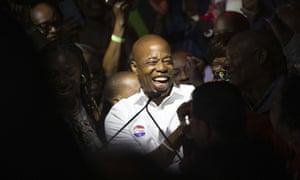 Eric Adams triumphed over a large field in New York's first major race to use ranked choice voting.