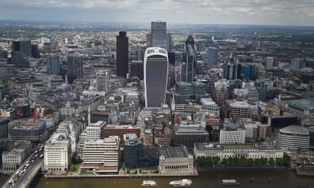 A general view of the City of London