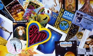 A montage of 1989 rave flyers.