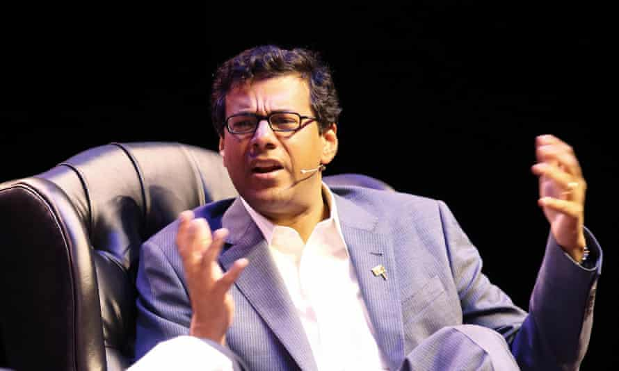 Writer and surgeon Atul Gawande talks about end-of-life experiences at the Sydney Opera House on Wednesday.