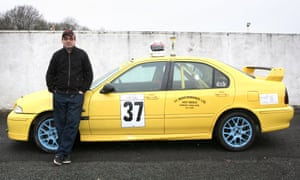 Steve Norton and his MG ZS 120 racing car