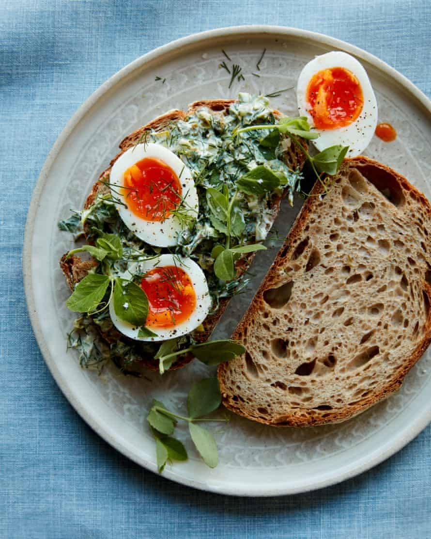 Anna Jones's caper, herb and mustard egg sandwich.