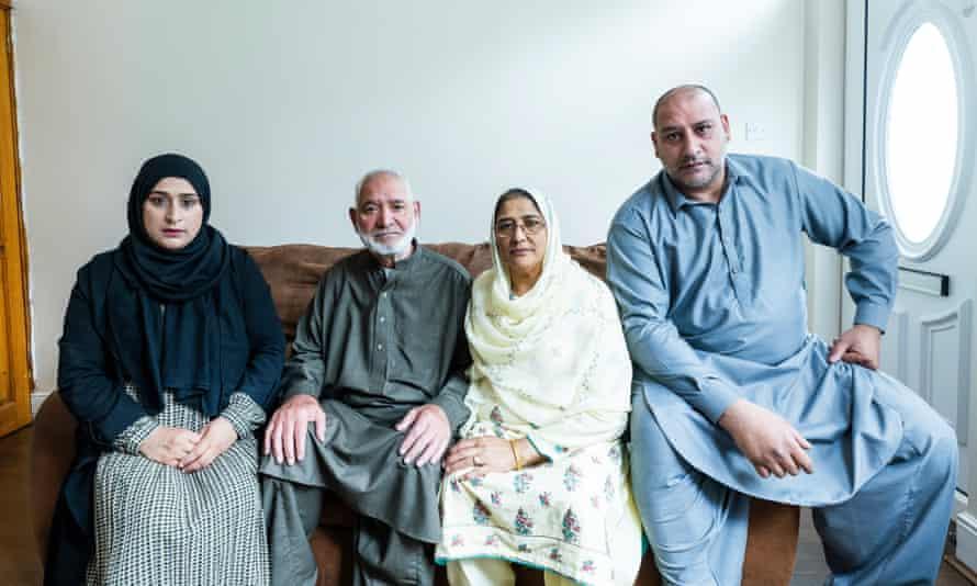 (From left) Sumera Ali, parents Ghazanfar Ali and Rukaya Begum and son Abdul Quddoos