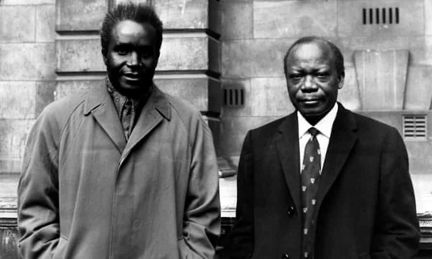 Kenneth Kaunda, left, with Harry Nkumbula, leader of the Northern Rhodesian ANC, in the 1950s.