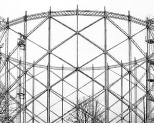 A gas holder tower in Sunderland by photographer Martin Chivers.