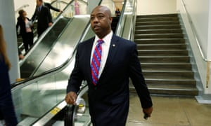 Senator Tim Scott in Washington. The senator has voted in line with the president 94% of the time.