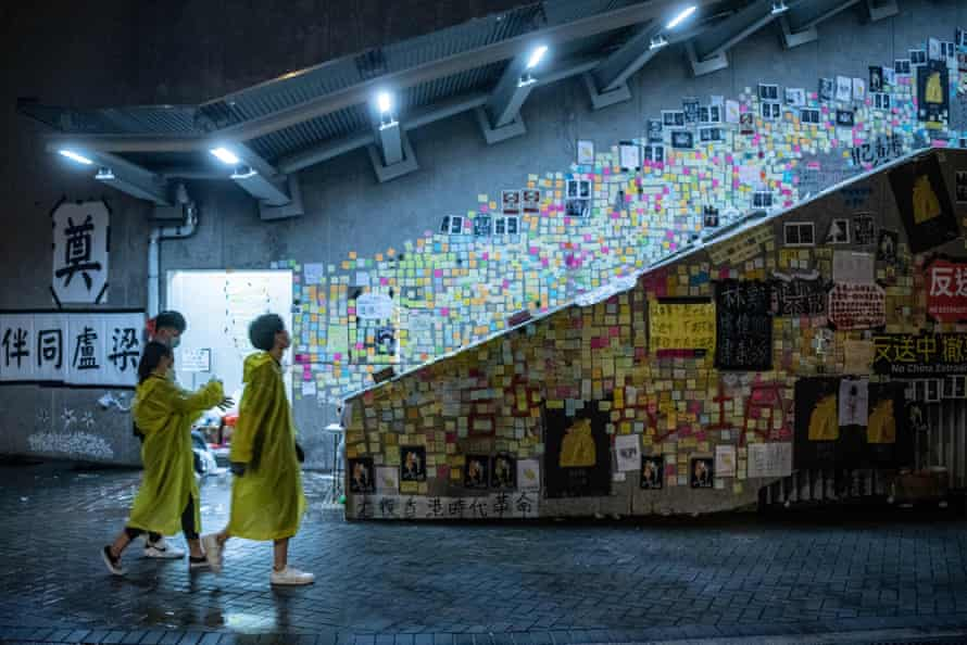 One of the Lennon walls in Hong Kong.