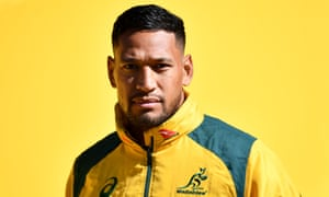 Israel Folau arrives for a training session in Sydney last August