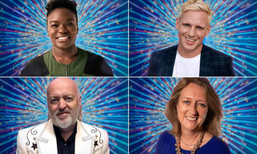 Clockwise from top left: Nicola Adams, Jamie Laing, Jacqui Smith and Bill Bailey.