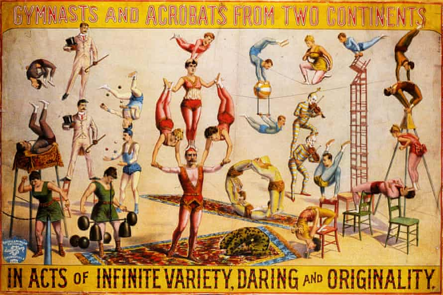 1890 American circus poster printed by Russell & Morgan Factories Printing Company, based in Cincinatti, Ohio.