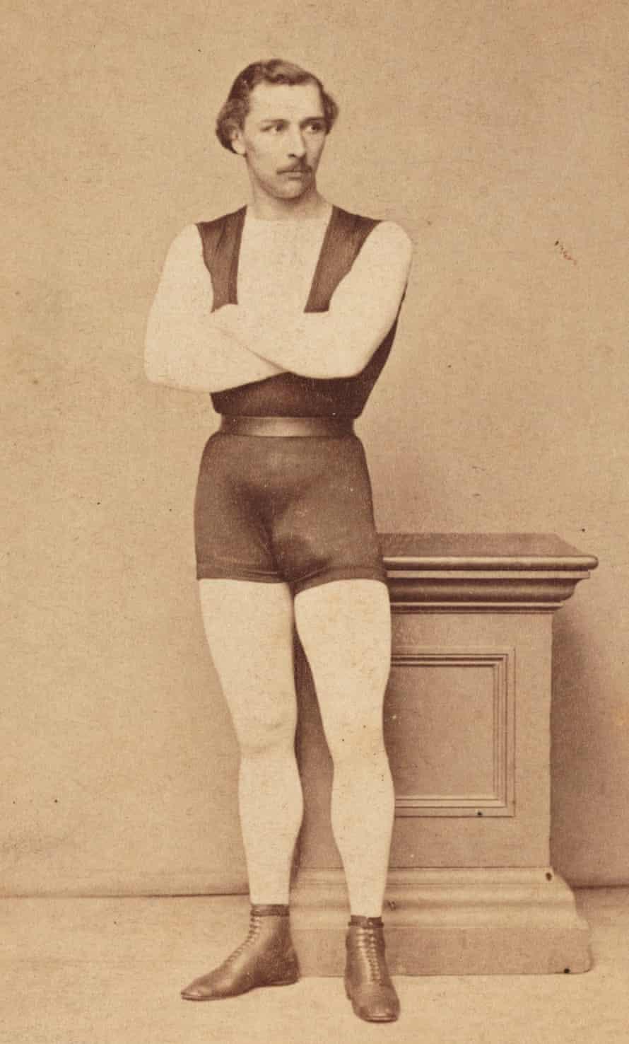 A carte-de-visite portrait of Jules Léotard