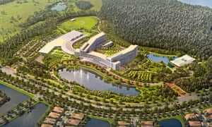 A render of the Lake Nona development.