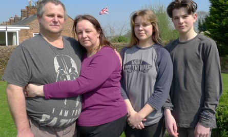 Troy Gent, 45, with wife Louise, 43, and daughter Chelsy, 18 and son Cadin, 13.