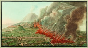 Eruption … an illustration by William Hamilton at Oxford's Bodleian Library.